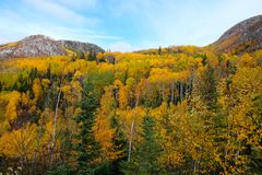 Charlevoix jesieni krajobraz Obrazy Royalty Free