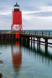 Charlevoix Lighthouse Reflection Stock Photos