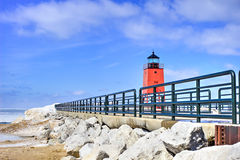 Charlevoix Lighthouse Stock Images