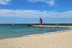Charlevoix Lighthouse Stock Image