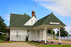 Charlevoix, Michigan Train Depot Museum Stock Photos