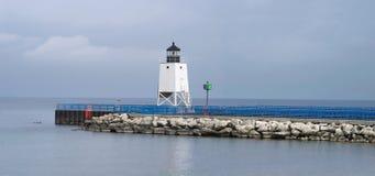 Charlevoix Pier-Leuchte Stockbild
