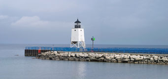 Charlevoix Pier Light Stock Image