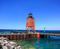 The Charlevoix Pier Light Royalty Free Stock Images