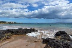 Charley potomstw plaża na Maui Obraz Royalty Free