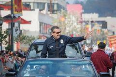 Charlie Beck, chefe do departamento da polícia de Los Angeles Fotografia de Stock