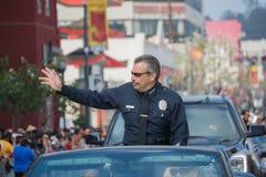 Charlie Beck, jefe del Departamento de Policía de Los Ángeles Fotografía de archivo