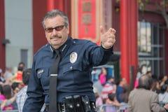 Charlie Beck, leider van de de Politieafdeling van Los Angeles Stock Afbeelding