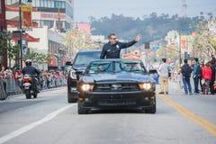 Charlie Beck, leider van de de Politieafdeling van Los Angeles Stock Foto