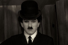 Charlie Chaplin. In Black and white Stock Image