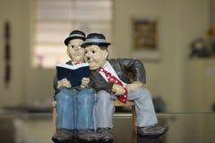 Charlie Chaplin Ceramic Figurine Royalty Free Stock Photos