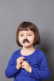 Charlie Chaplin kid moustache concept Royalty Free Stock Photo