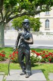 Charlie Chaplin monument in Vevey Royalty Free Stock Images