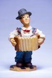 Charlie Chaplin musician souvenir with accordion Royalty Free Stock Photos