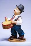 Charlie Chaplin musician souvenir with drum Stock Image