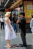 Charlie Chaplin och Marilyn Monroe Royaltyfri Fotografi