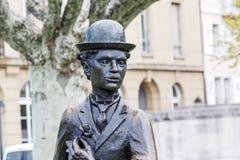 Charlie Chaplin statue closeup Stock Image