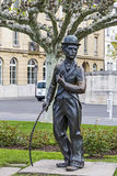 Charlie Chaplin statue in Vevey Royalty Free Stock Images