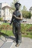 Charlie Chaplin statue in Vevey, Switzerland stock photo