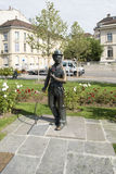 Charlie Chaplin statue in Vevey, Switzerland Royalty Free Stock Image