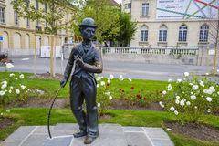 Charlie Chaplin statue, Vevey Royalty Free Stock Photography