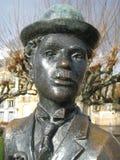 Charlie Chaplin staty Arkivfoton