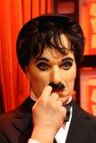 Charlie Chaplin vaxar figurerar Arkivbild
