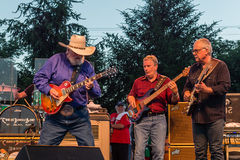 Charlie Daniels met Chris Hayward en Bruce Brown Stock Foto
