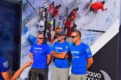 Charlie Enright And Crew Vestas 11th Hour Volvo Ocean Race 2017 Stock Photography