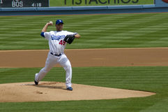 Charlie Haeger. Los angeles dodgers' pitcher Charlie Haeger in action Royalty Free Stock Photo