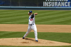 Charlie Haeger. Los Angeles Dodgers' pitcher CharlieHaeger in action Royalty Free Stock Photography