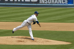 Charlie Haeger. Los Angeles Dodgers' pitcher CharlieHaeger in action Royalty Free Stock Images