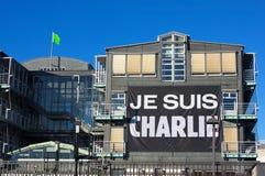 Charlie Hebdo banner-ii-Hamburg Royalty-vrije Stock Afbeeldingen