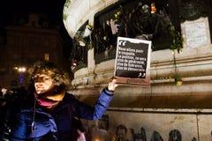 Charlie Hebdo enhet samlar Royaltyfria Foton