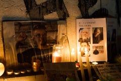 Charlie Hebdo enhet samlar Royaltyfri Foto