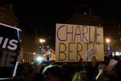 Charlie Hebdo peaceful manifestations Stock Image