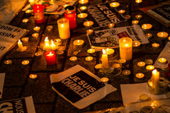 Charlie Hebdo terrorism attack Stock Images
