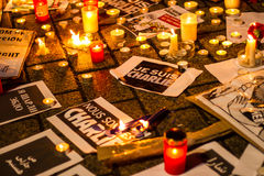 Charlie Hebdo terrorism attack Royalty Free Stock Photo