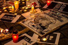 Charlie Hebdo terrorism attack Royalty Free Stock Images