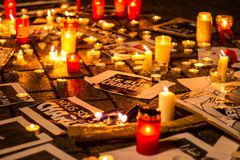Charlie Hebdo terrorism attack Royalty Free Stock Photo