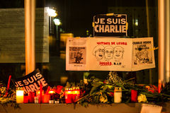 Charlie Hebdo terrorism attack Stock Photography