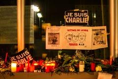 Charlie Hebdo terrorism attack. BERLIN, GERMANY - JANUARY 7TH, 2015: March against Charlie Hebdo magazine terrorism attack, on January 7th, 2015,  in front of Stock Photography