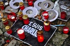 Charlie Hebdo-terrorismeaanval Royalty-vrije Stock Afbeeldingen