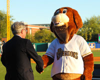 Charlie meets the Mayor (Tecklenburg) Royalty Free Stock Photography