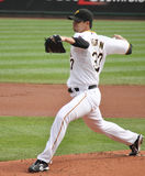 Charlie Morton of the Pittsburgh Pirates. Pitches  against the Cincinnati Reds Royalty Free Stock Image