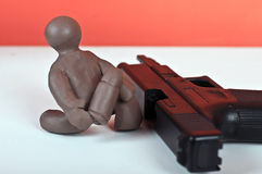 Charlie poca arma da fuoco di carico Fotografie Stock