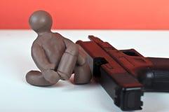 Charlie poca arma de fuego de carga Fotos de archivo