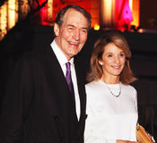 Charlie Rose and Amanda Burden. TV talk show host Charlie Rose and Amanda Burden, Director of the New York City Planning Commission, arrive on the red carpet for Royalty Free Stock Photography
