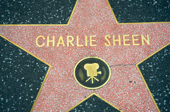 Charlie Sheen. 's star at the Hollywood Walk of Fame Royalty Free Stock Photo