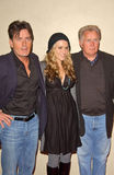Charlie Sheen, Martin Sheen. Charlie Sheen with Brooke Allen and Martin Sheen at the 5th Annual Best In Drag Show, Fundraiser for Aid for AIDS. Orpheum Theatre Stock Image